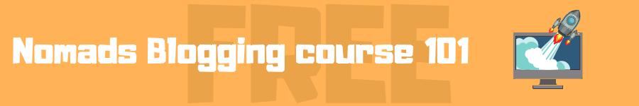 blogging course banner